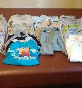 водолазки, рубашки, жилетки, шорты, свитера и т.д