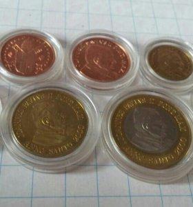 Ватикан набор евро монет 2000 пробные