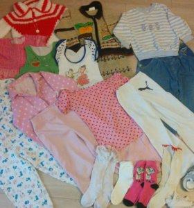 Пакет вещей на девочку, 92-110, обувь, игрушки