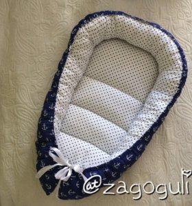 Гнездышко кокон baby nest для новорождённых