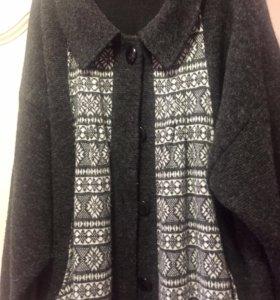 Кофта - пальто 60-64 размер