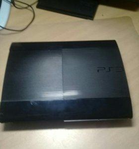 PS3 Super Slim 500гб + 2 джойстика +5 игр+ микрофн