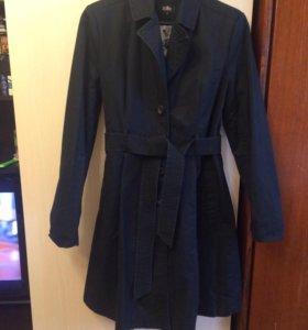 Пальто чёрное весеннее