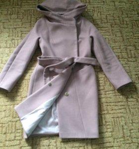 Пальто кашемир на подкладе цвет какао размер 44-46