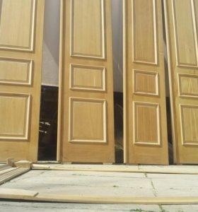 Двери двухстворчатые.бук с дубовым шпоном. Срочно