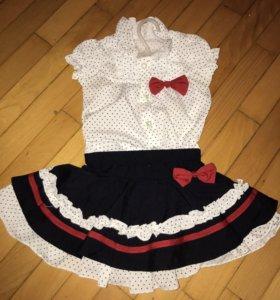 Костюм юбка/блузка для девочки