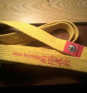 Жёлтый пояс для киокушинкай карате