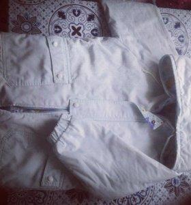 детская курточка на девочку) светло голубая)