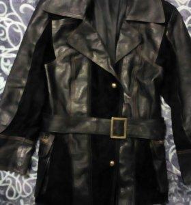 Куртка кожанная с замшей