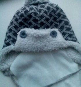 Шапка+шарфик для мальчика