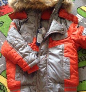 Новая куртка зимняя 104 размер