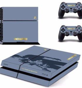 Наклейка Стикер на PS4 новый