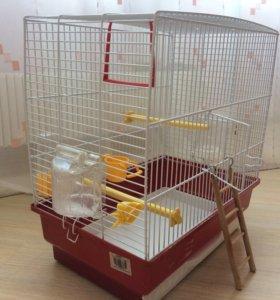 Клетка для попугая со всем необходимым