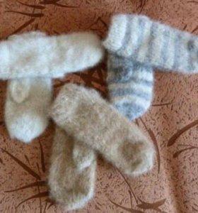 Носки и варежки из собачьей шерсти
