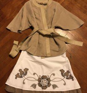 Комплект юбка+накидка
