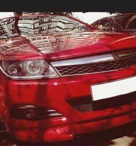 Накладки на бампер для Opel Astra h (GTC)