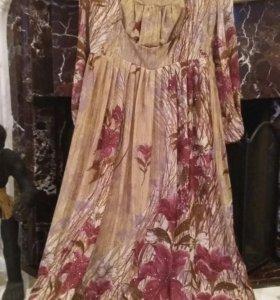 платье шифоновое со стразами