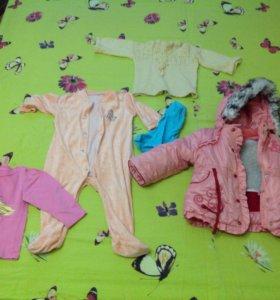 Детская одежда для девочки 1-2 года