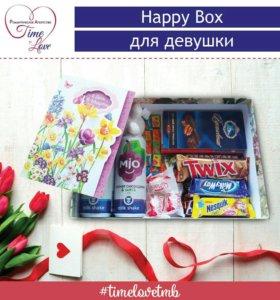 Happy box для девушки | Сладкий подарок
