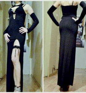 Платье+перчатки+подвязка