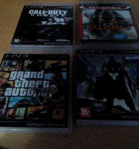 Ps3+игрCALL of DUTY ghosts, KiLLZONE3,Gta5,Destiny