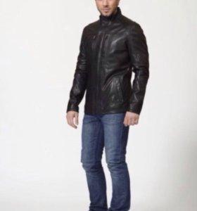 куртка нат кожа коричневая
