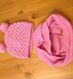 Шапочка шарфик/ шапка шарф