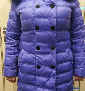 Зимнее пуховик-пальто