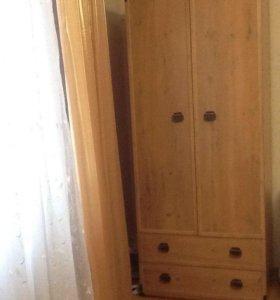 Шкаф и тумбочка есть ещё кровать 1- спальная