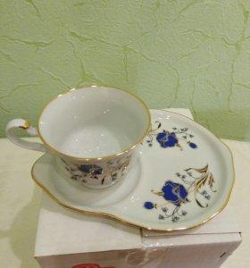 Набор подарочный (чашка с блюдцем)Дулевский фарфор