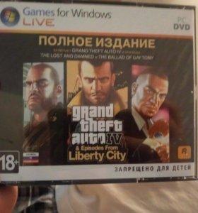 Диск игры лицензионный GTA 4