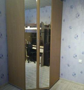 Шкаф угловой с зеркалом и подсветкой,шкаф