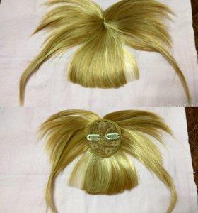 Волосы на заколках+ челка