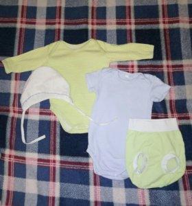 Детская одежда 0-6 мес