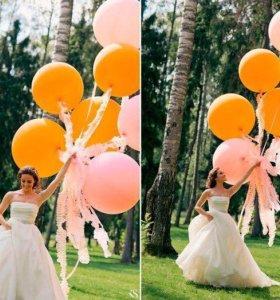 Шары гиганты на свадебную фотосессию