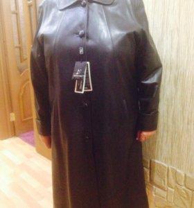 Кожаное пальто . 8xl. Состояние идеальное