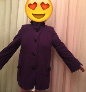 Пальто сиреневое