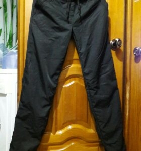 Болоньевые утепленые штаны