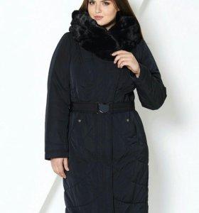 Синтепоновое пальто (НОВОЕ, темно-синее)