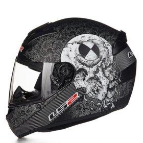 Шлем мотоцикл мотошлем череп