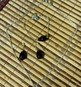 Набор(кольге, серьги и браслет)
