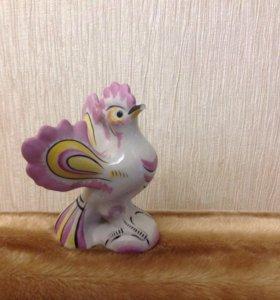 Статуэтка фарфоровая птица ссср