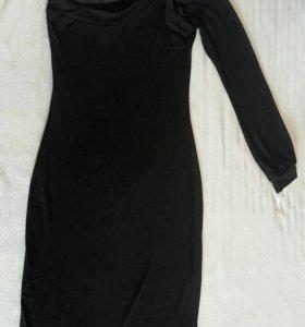 Необычное платье стрейч на одно плечо)