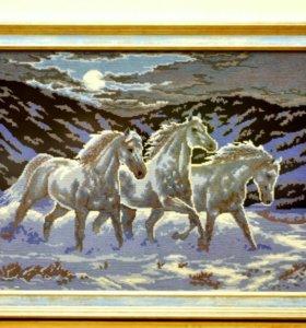 Тройка лошадей.
