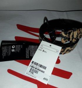 Новый леопардовый ремень H&M