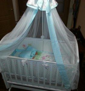 Детская кроватка в полном комплекте! Торг