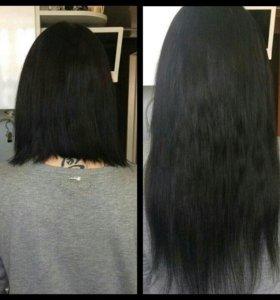 Наращивание волос итальянским способом