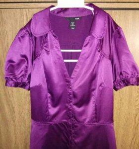 Сатиновая женская блузка H and M