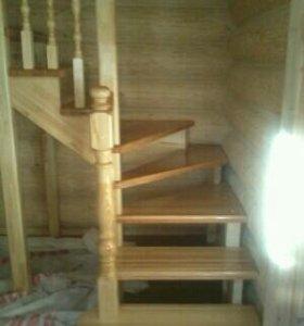 Деревянную лестницу сделаем