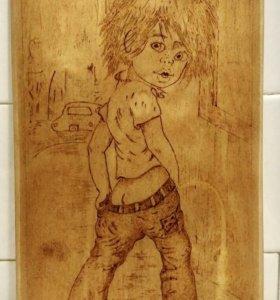 Панно деревянное декоративное.